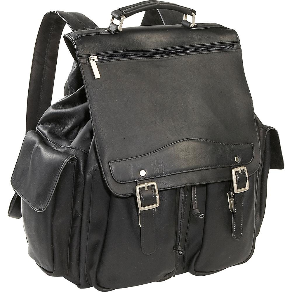 David King & Co. Jumbo Top Handle Backpack - Black - Handbags, Manmade Handbags