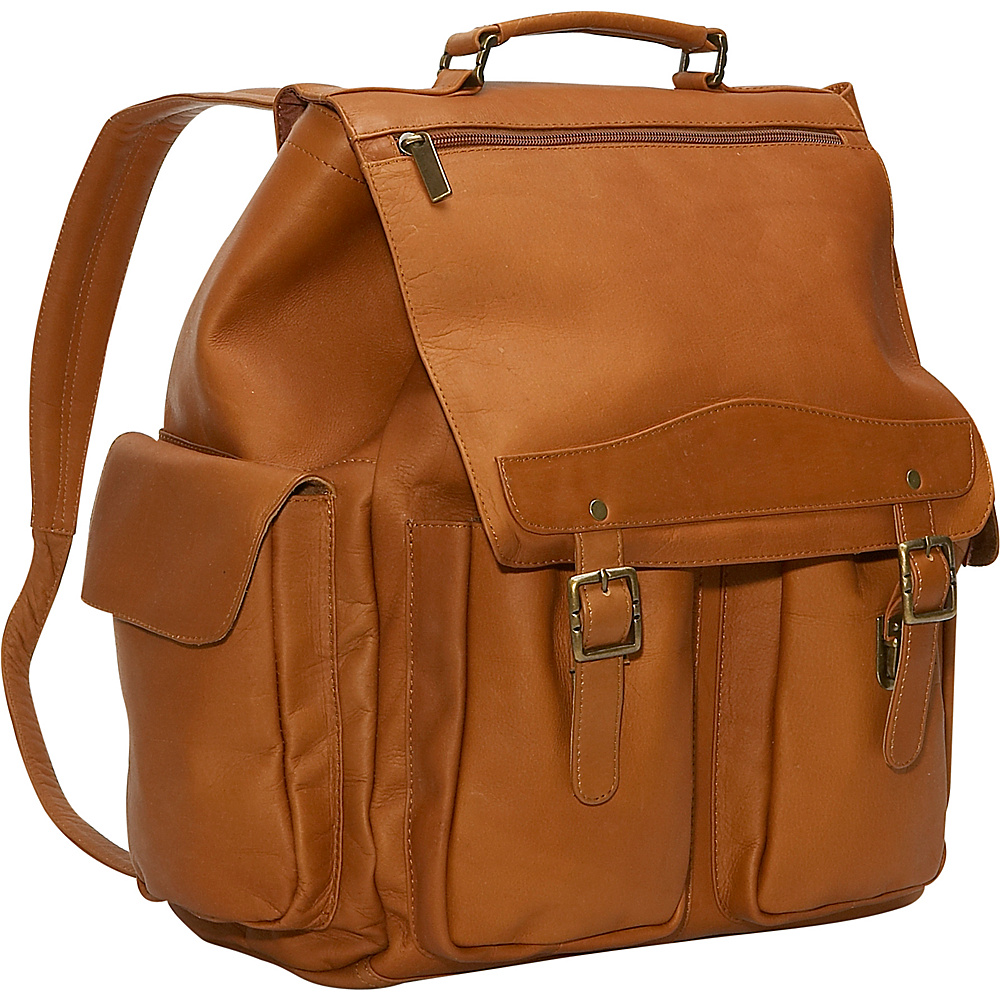 David King & Co. Jumbo Top Handle Backpack Tan - David King & Co. Manmade Handbags - Handbags, Manmade Handbags