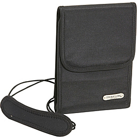 Anti-Theft Neck Wallet Black