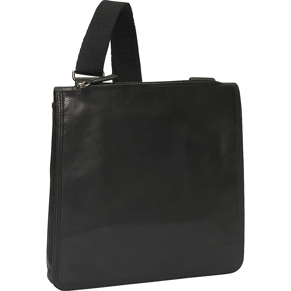 Osgoode Marley Flat N/S Euro Messenger Black - Osgoode Marley Other Mens Bags - Work Bags & Briefcases, Other Men's Bags