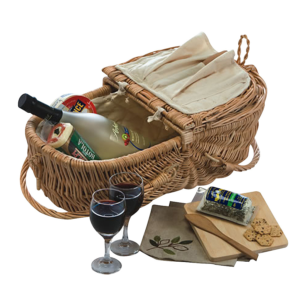 Picnic Plus Eco Natural Wine Cheese Basket Willow