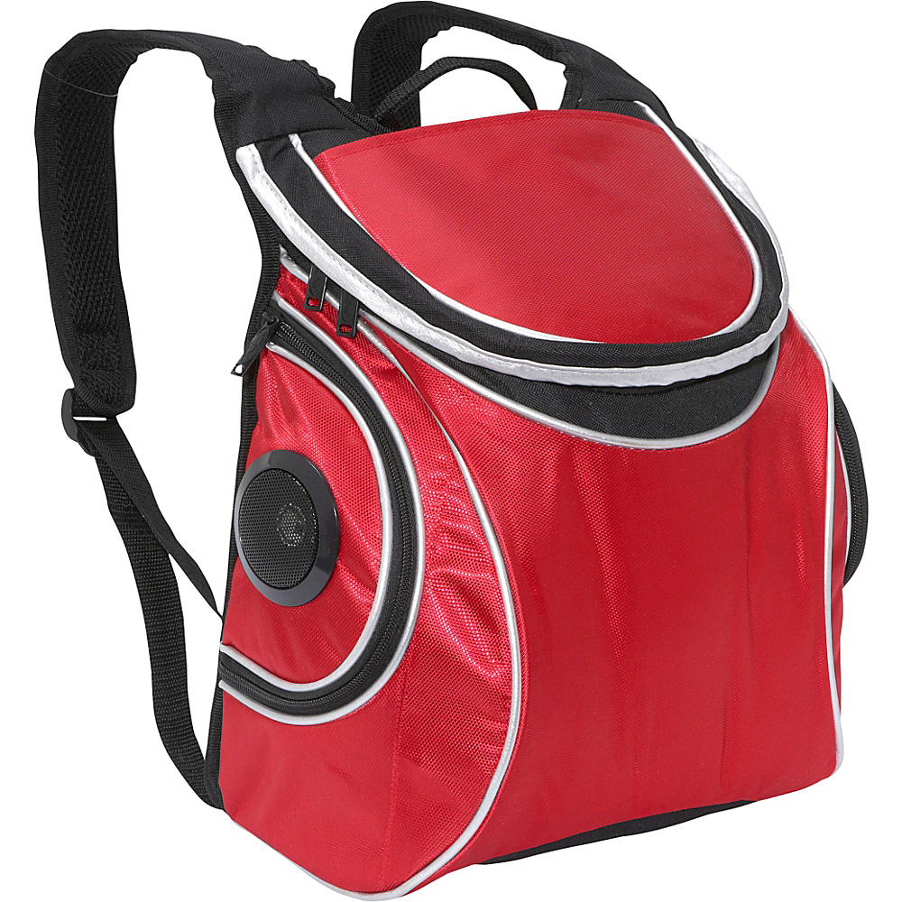Picnic Plus Cooladio Speaker Cooler - Red - Outdoor, Outdoor Coolers