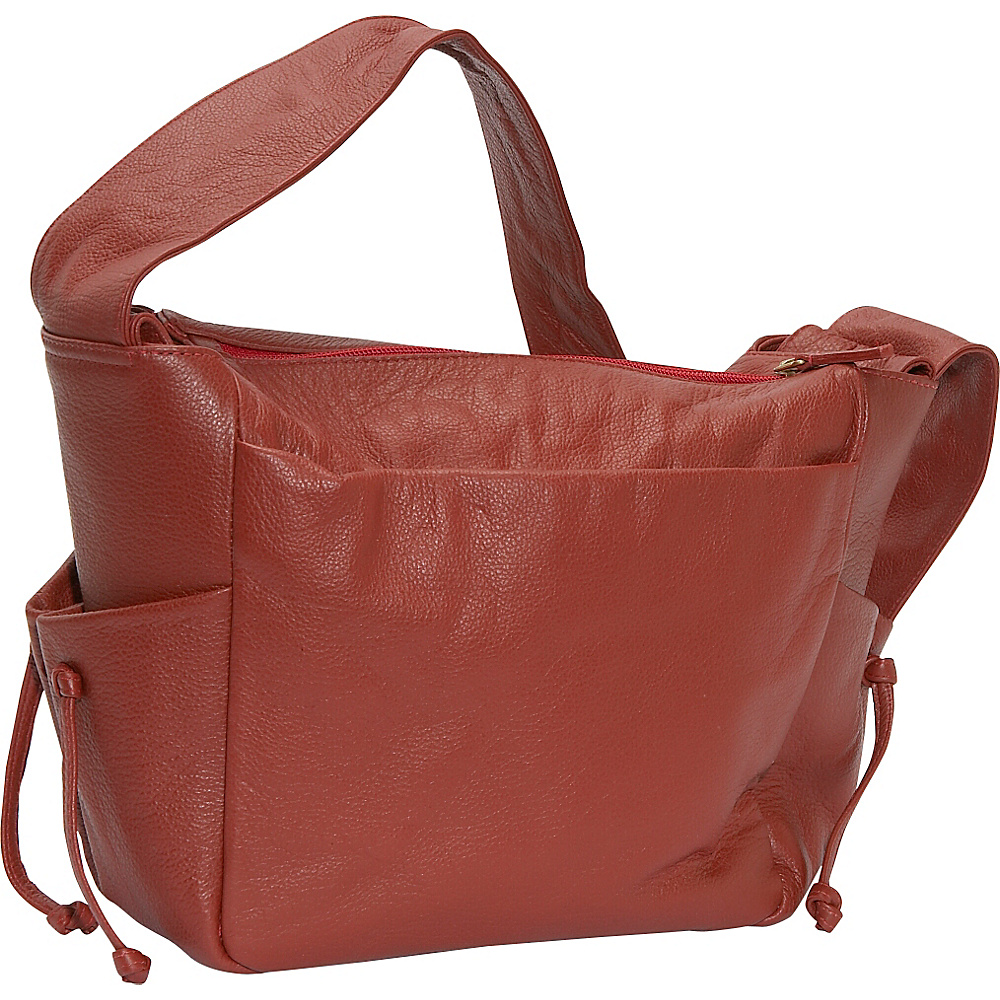J. P. Ourse & Cie. Open Trails Jr. - Berry Red - Handbags, Leather Handbags