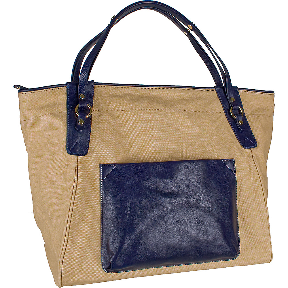Boulevard Sunday Tote Navy Boulevard Fabric Handbags