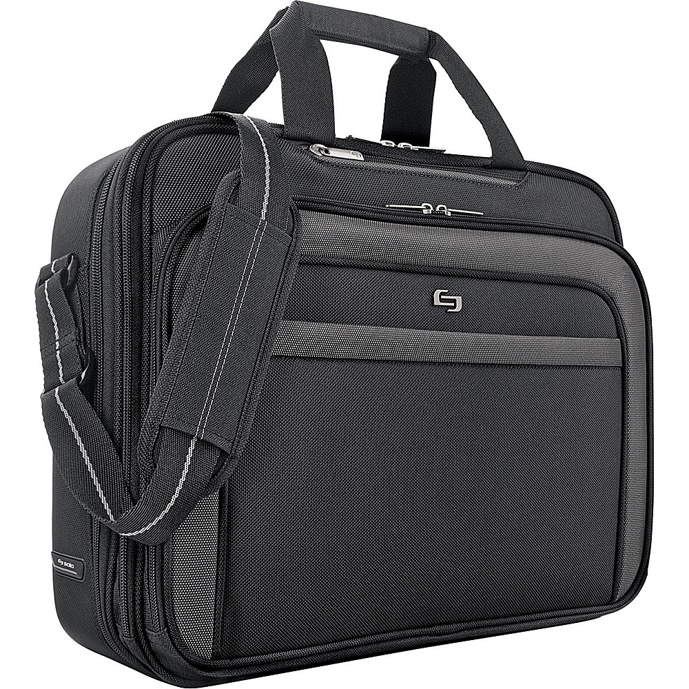 SOLO Sterling CheckFast Laptop Portfolio - Black - Work Bags & Briefcases, Non-Wheeled Business Cases
