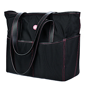 Women's Tote Black/Pink Stitch