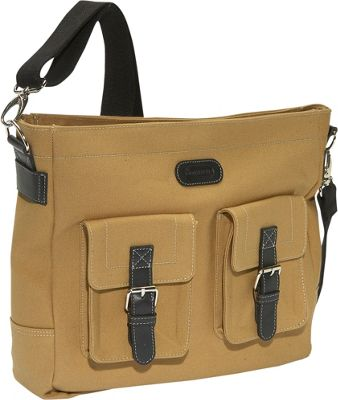 Leatherbay Downtown Laptop Bag - Khaki
