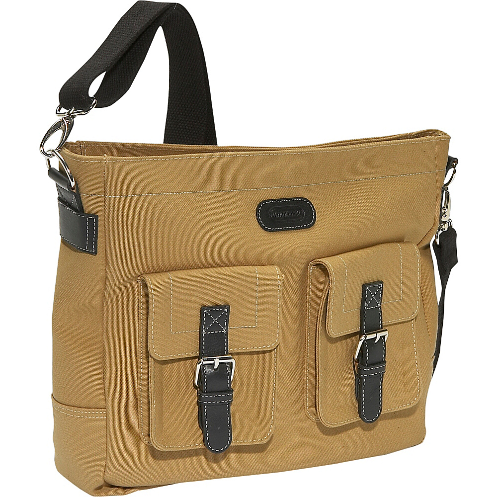Leatherbay Downtown Laptop Bag - Khaki - Work Bags & Briefcases, Other Men's Bags