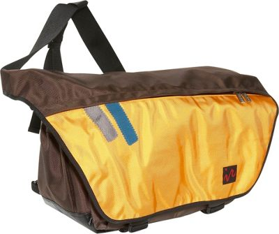 Ice Red Drift Messenger Bag - Small - Brown/Yellow
