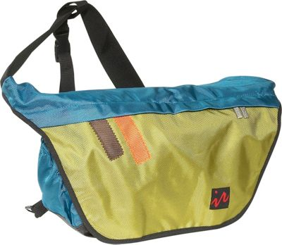 Ice Red Drift Messenger Bag - Small - Blue/Lime