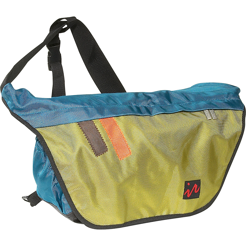 Ice Red Drift Messenger Bag - Small - Blue/Lime - Work Bags & Briefcases, Messenger Bags