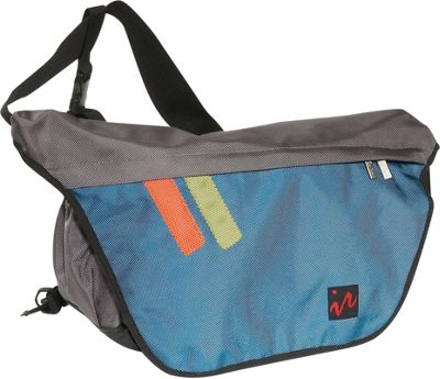 Ice Red Drift Messenger Bag - Small - Grey/Blue