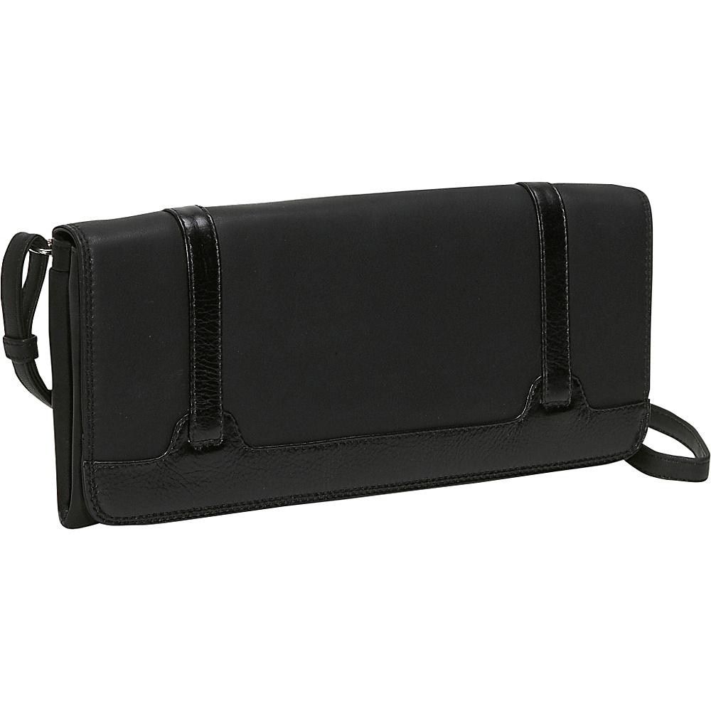 Derek Alexander Full Flap Clutch - Black - Handbags, Leather Handbags
