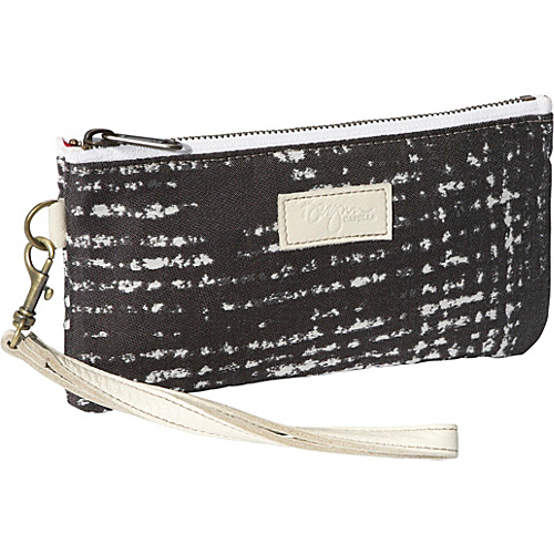 Brynn Capella Cher Wristlet - Grey Stripes