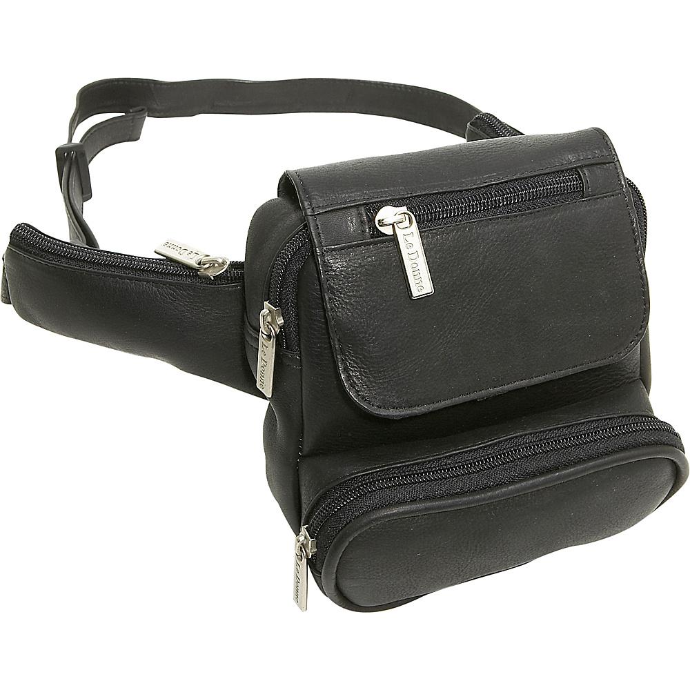 Le Donne Leather Traveler Waist Bag - Black - Backpacks, Waist Packs