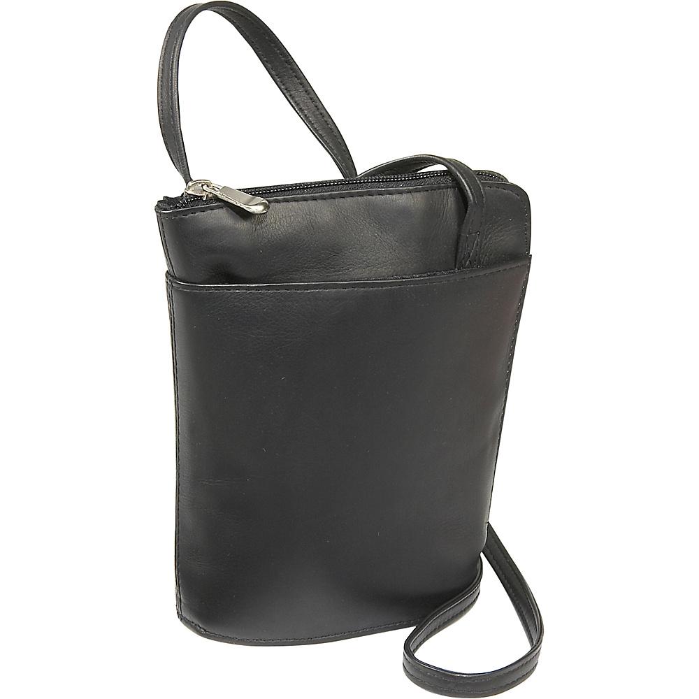 Le Donne Leather L-Zip Mini - Black - Handbags, Leather Handbags