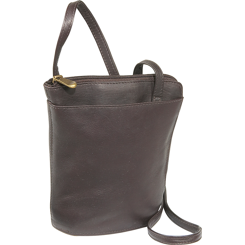 Le Donne Leather L-Zip Mini - Caf - Handbags, Leather Handbags