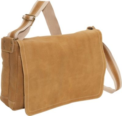 David King & Co. Distressed Leather Full Flap Laptop Messenger - L Distressed Tan - David King & Co. Messenger Bags