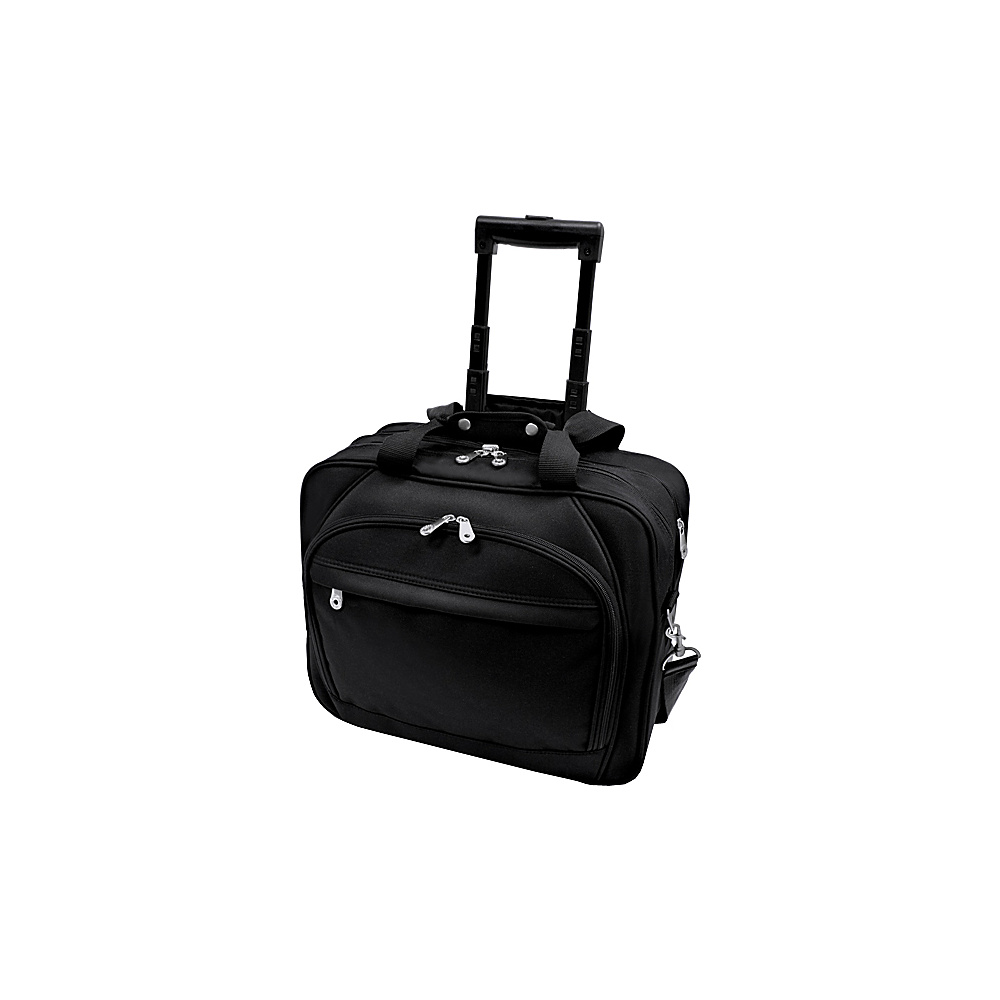 U.S. Traveler Rolling Laptop Briefcase - Black - Work Bags & Briefcases, Wheeled Business Cases