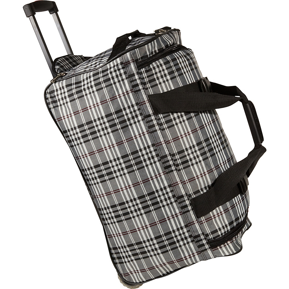 Rockland Luggage 22 Rolling Duffle Bag Black Cross - Rockland Luggage Softside Carry-On - Luggage, Softside Carry-On