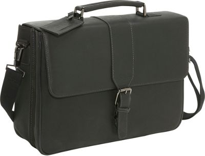 Kenneth Cole Reaction Leather Laptop Briefcase - Black