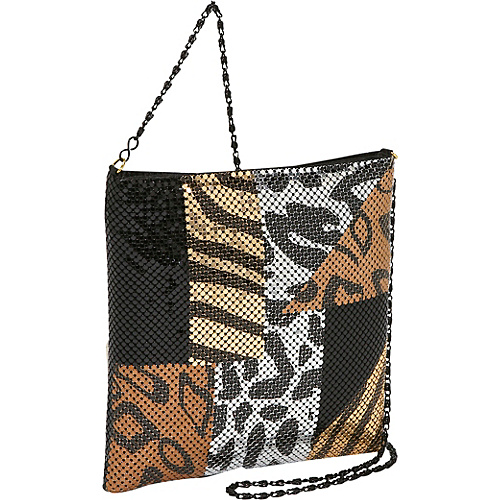 Prezzo Large Metal Mesh Cross Body Black - Prezzo Evening Bags