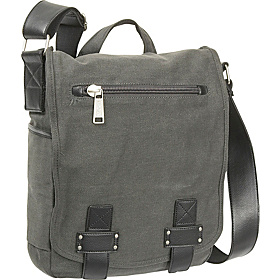 Bag Home Again - Canvas North/South Messenger Bag Grey