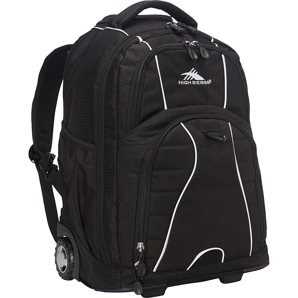 High Sierra Freewheel Rolling Backpack Black - Backpacks, Rolling Backpacks