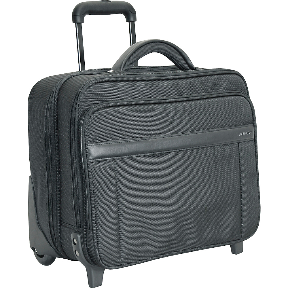 Netpack N-2 Wheeled Laptop Case - Black - Work Bags & Briefcases, Wheeled Business Cases