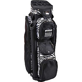 Ladies Boutique Cart Bag Black/Zebra