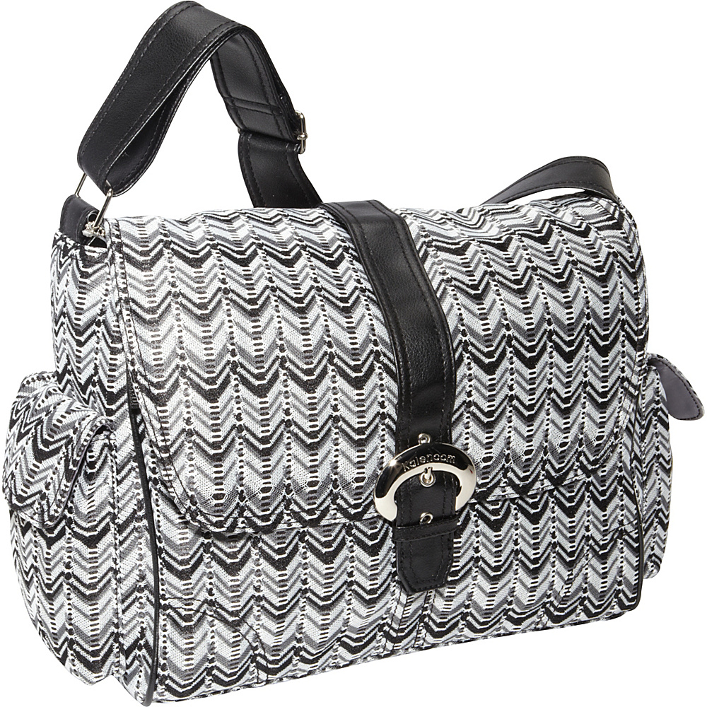 Kalencom A Step Above Ripples Black White Kalencom Diaper Bags Accessories