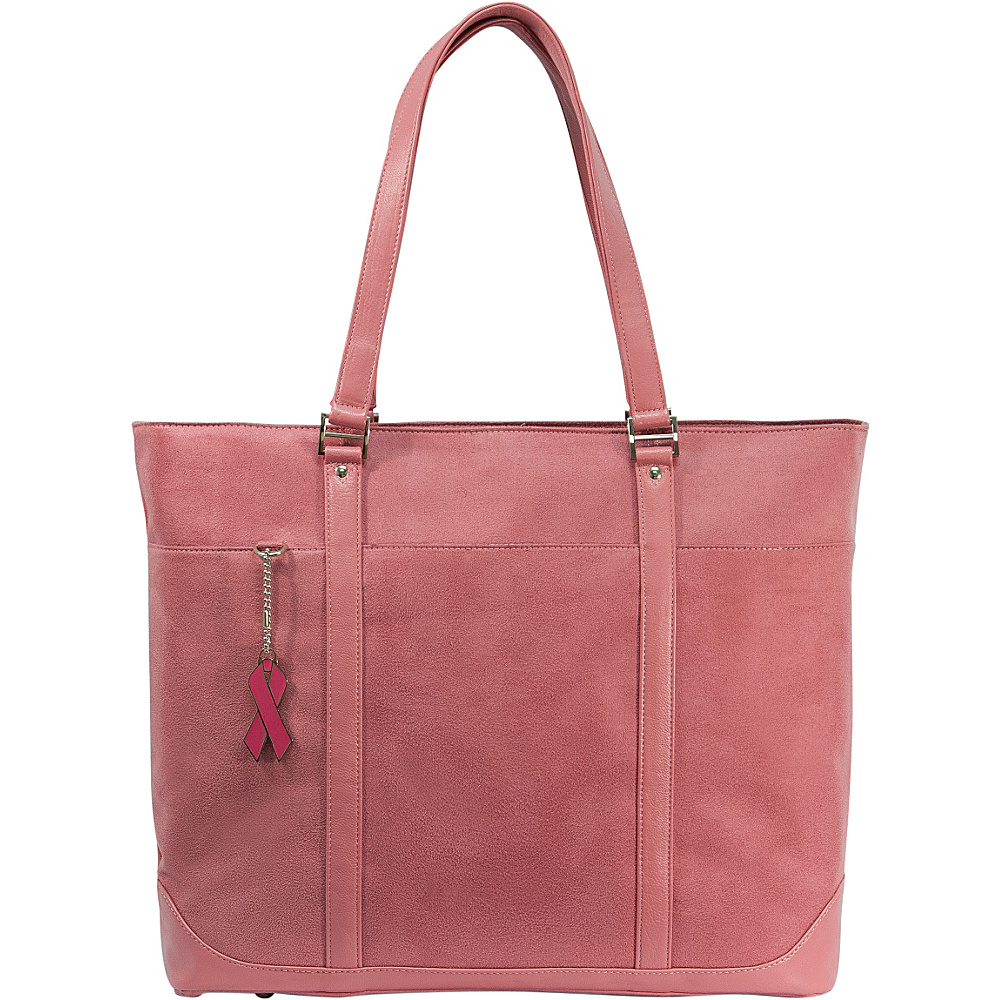 Mobile Edge Komen Faux-Suede Tote - 17 - Pink - Work Bags & Briefcases, Women's Business Bags