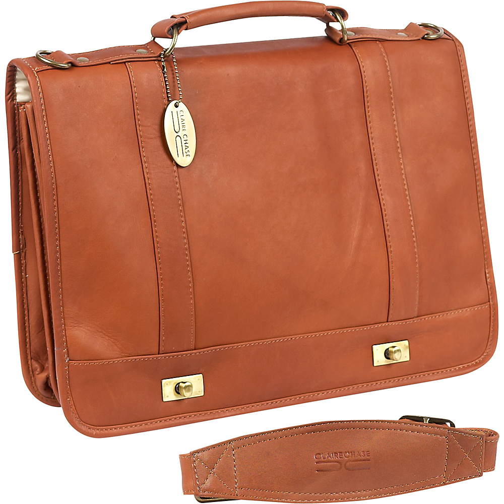 ClaireChase Messenger Brief - Saddle - Work Bags & Briefcases, Messenger Bags