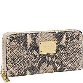 Jet Set Python Zip Around Continental Wallet Dark Sand