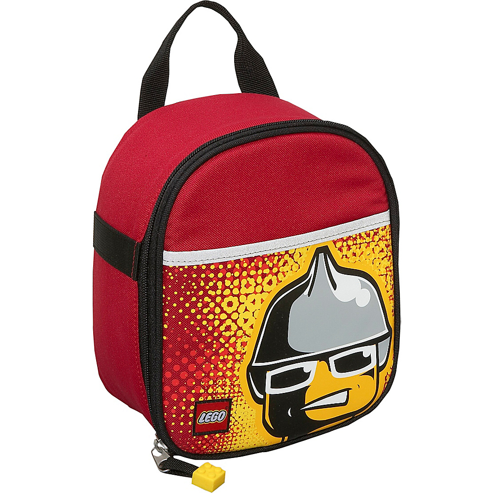 LEGO Vertical Lunch Bag Fire Minifigure RED