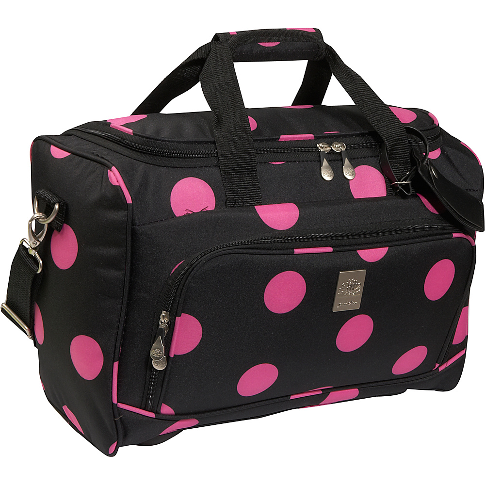Jenni Chan Dots City Duffel Black Pink