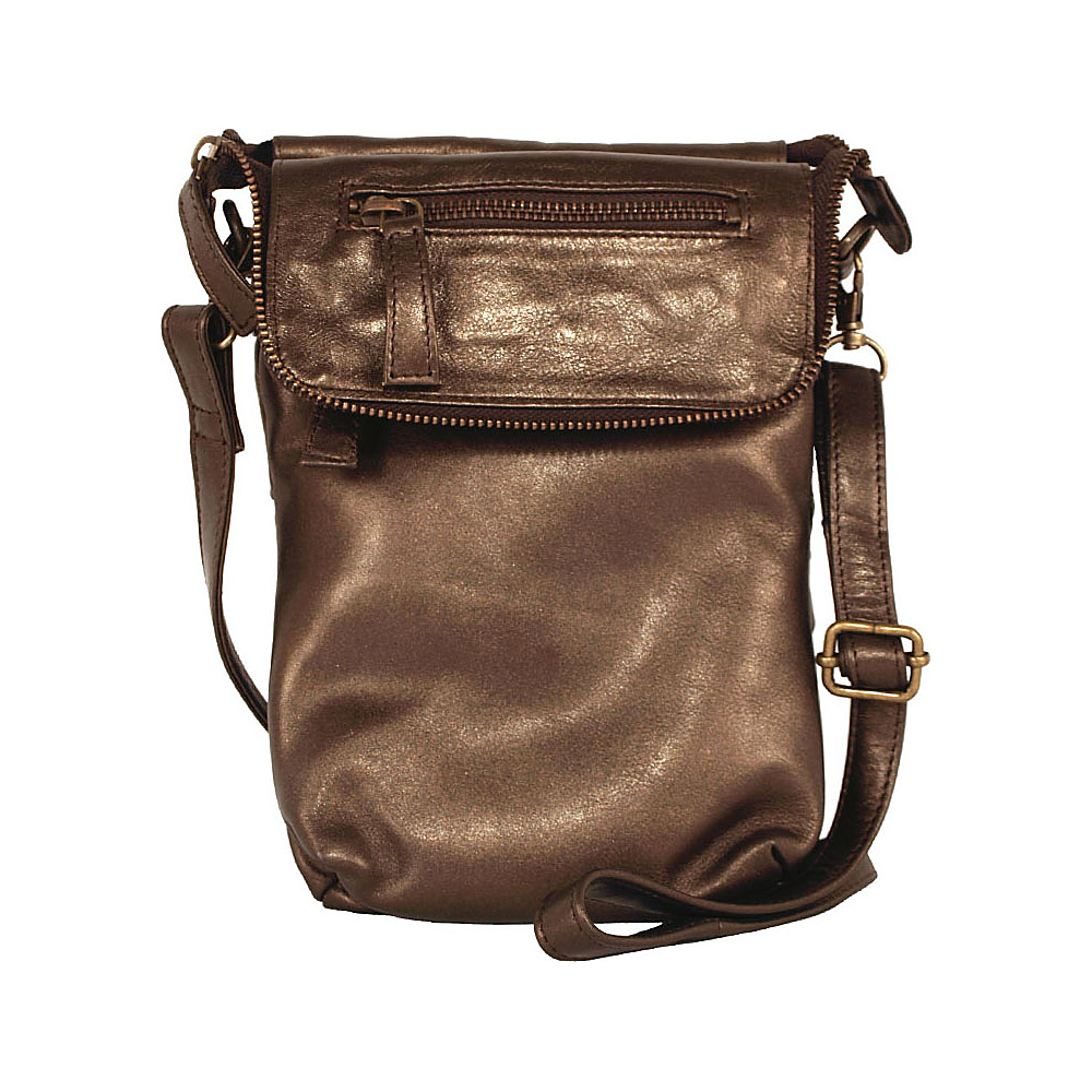 Latico Leathers Mina Metallic Brown
