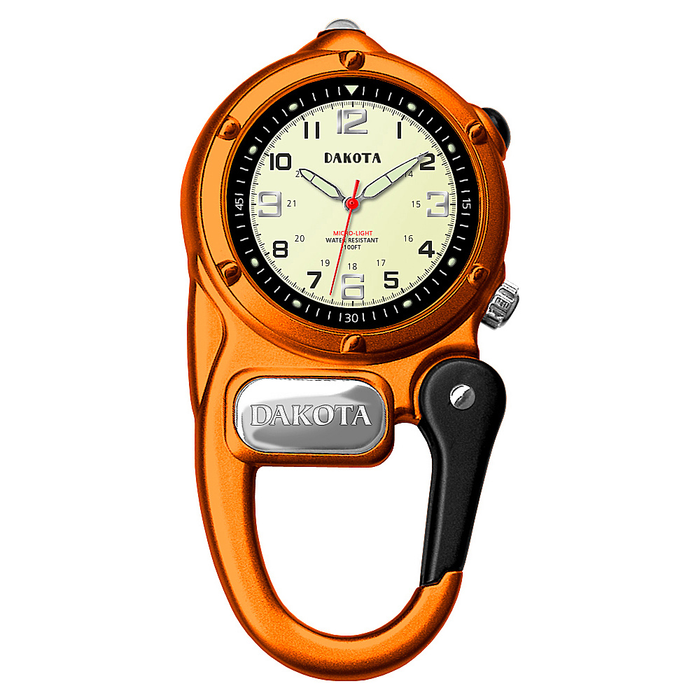 Dakota Watch Company Mini Clip Microlight Orange