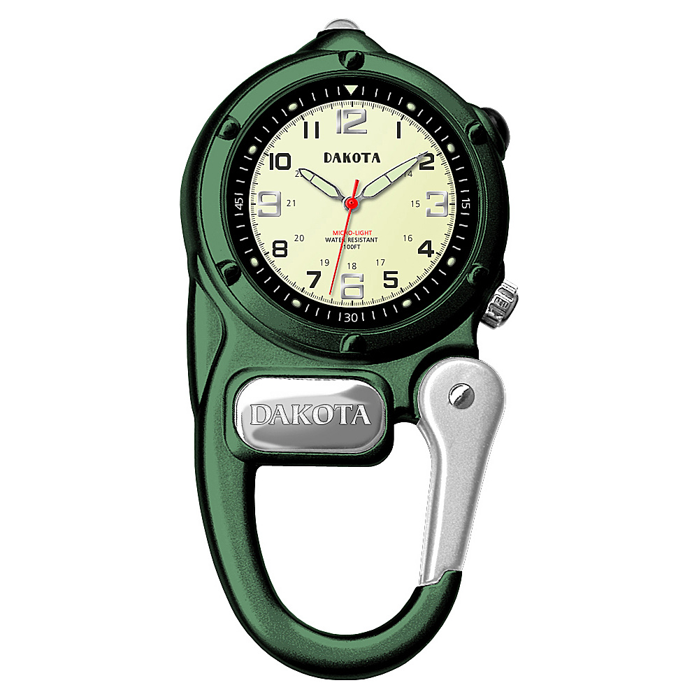 Dakota Watch Company Mini Clip Microlight Green