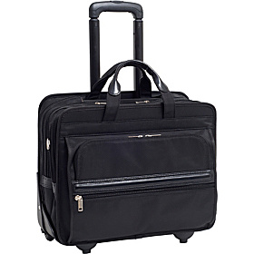 P Series Franklin Nylon 17'' Detachable-Wheeled Laptop Case Black