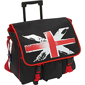 Luca - Roller Bag Black British Flag