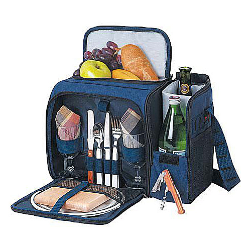 Picnic Time Malibu Insulated Picnic Pack - Navy bag w/
