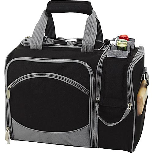 Picnic Time Malibu Insulated Picnic Pack - Black/Silver