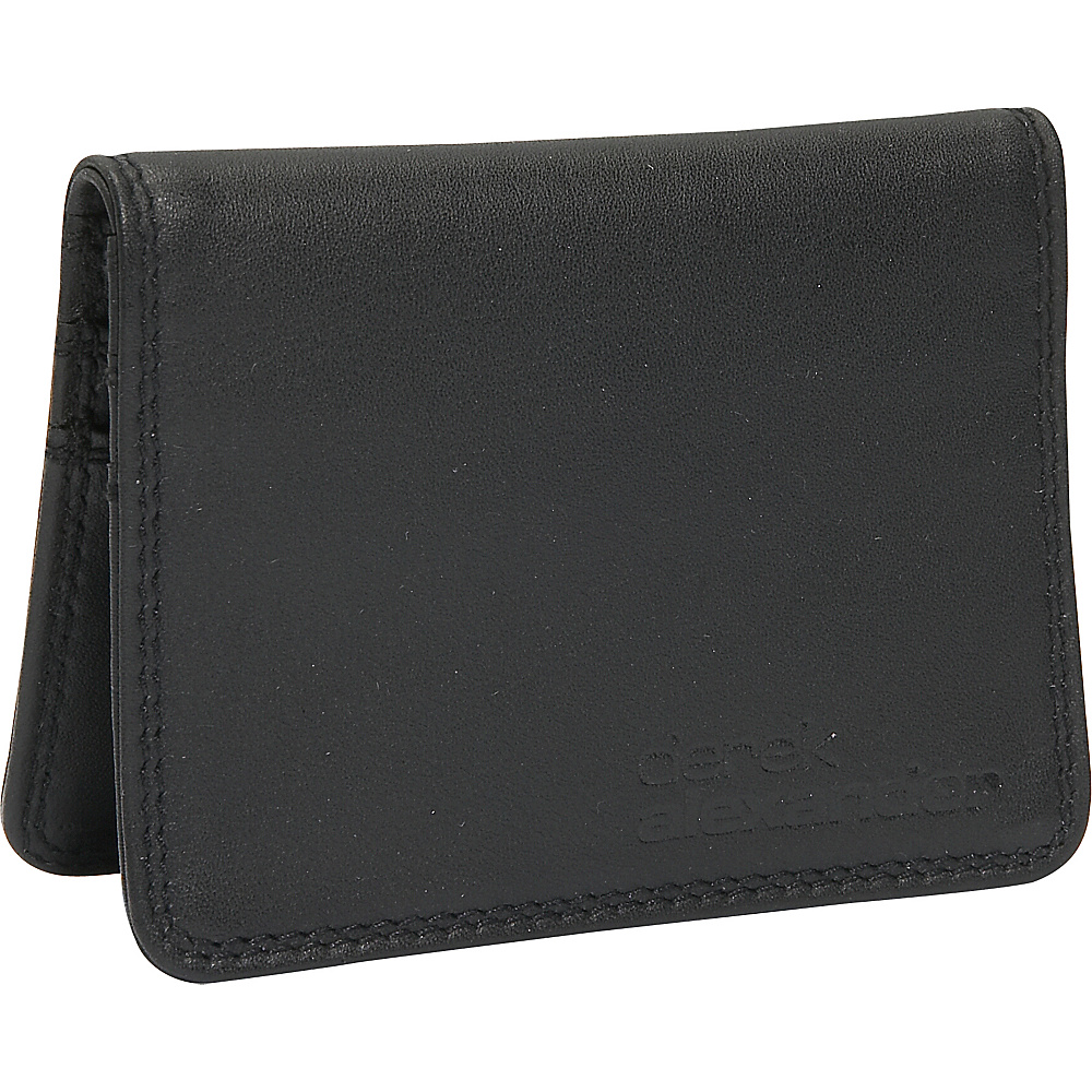 Derek Alexander Small Credit Card Holder - Black - Work Bags & Briefcases, Men's Wallets