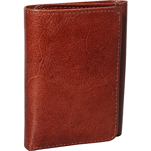 Jack Georges Sienna Collection Tri-fold Wallet Cognac - Jack Georges Mens Wallets