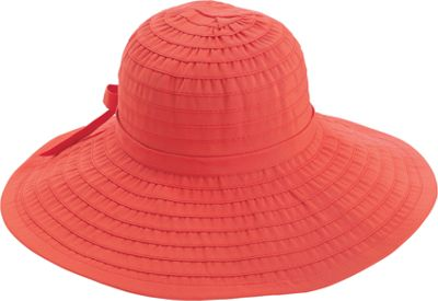 San Diego Hat Ribbon Hat With Large Brim And Bow One Size - coral - San Diego Hat Hats/Gloves/Scarves