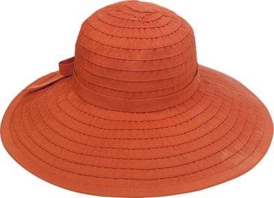 San Diego Hat Ribbon Hat With Large Brim And Bow - rust