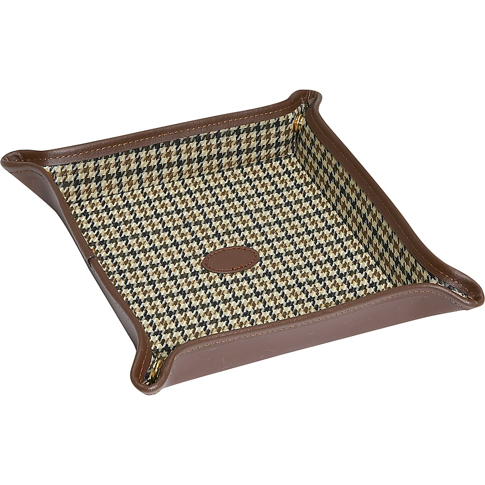 Budd Leather Leather Folding Snap Dressing Tray Brown Budd Leather Business Accessories