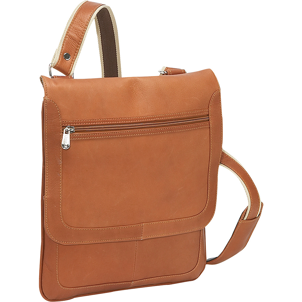 Piel Small Vertical Messenger - Saddle - Work Bags & Briefcases, Other Men's Bags