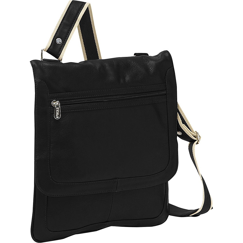 Piel Small Vertical Messenger Black